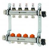 Распределительный блок Dynacon Eclipse 4 контура с клапанной вставкой и расходомерами